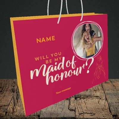 Picture of Maid Of Honour, Wedding Design, Medium Landscape Gift Bag