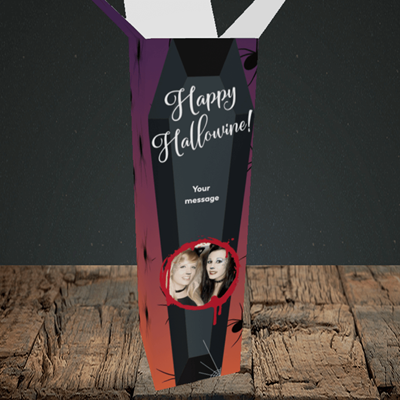 Picture of Spider, Halloween Design, Upright Bottle Box