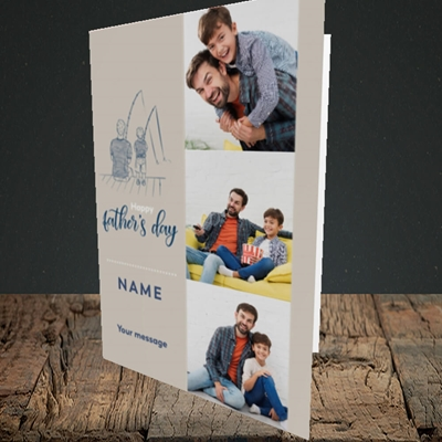 Picture of Father & Son, Father's Day Design, Portrait Greetings Card