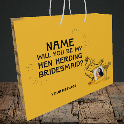 Picture of Hen, Engagement Design, Medium Landscape Gift Bag