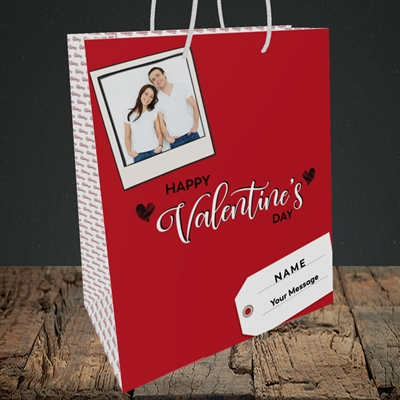Picture of 2.A Valentine's Polaroid, Valentine's Design, Medium Portrait Gift Bag