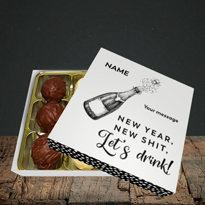 Picture of Let's Drink(Without Photo), New Year Design, Choc 9