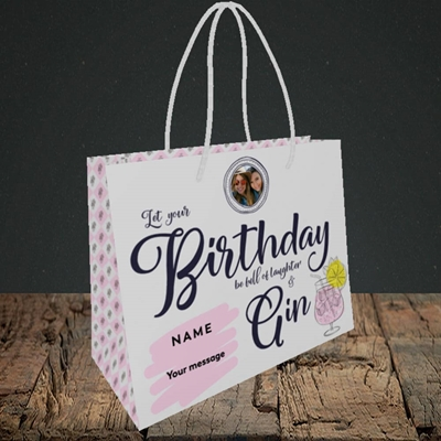 Picture of Birthday Full Of Gin, Birthday Design, Small Landscape Gift Bag