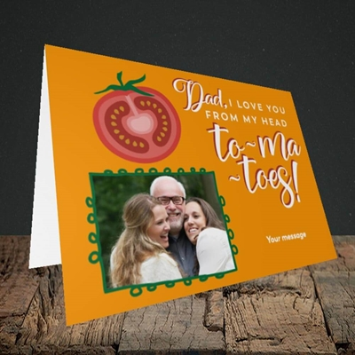 Picture of Tomatoes, Father's Day Design, Landscape Greetings Card