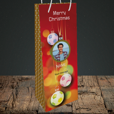 Picture of Christmas Baubles, Bottle Bag