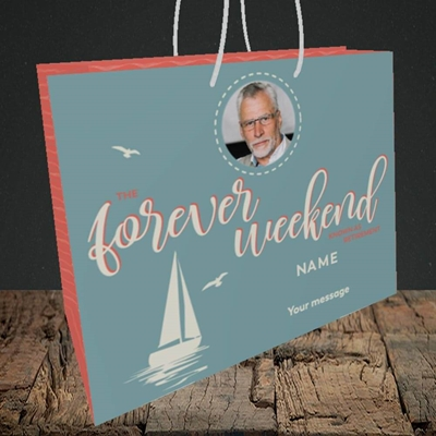 Picture of Forever Weekend, Retirement Design, Medium Landscape Gift Bag