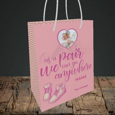 Picture of Anywhere, Valentine's Design, Small Portrait Gift Bag