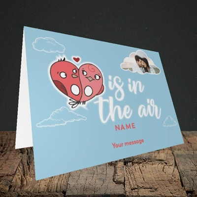 Picture of Love Is In The Air, Valentine's Design, Landscape Greetings Card