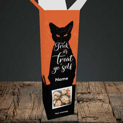 Picture of Cat, Halloween Design, Upright Bottle Box
