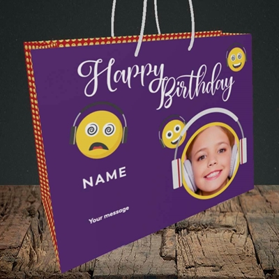 Picture of Smileys, Birthday Design, Medium Landscape Gift Bag