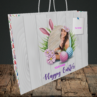 Picture of Grass, Easter Design, Medium Landscape Gift Bag