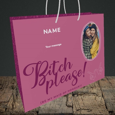 Picture of Bitch Please!, Wedding Design, Medium Landscape Gift Bag