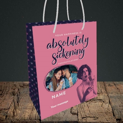 Picture of Absolutely Sickening, Wedding Design, Small Portrait Gift Bag