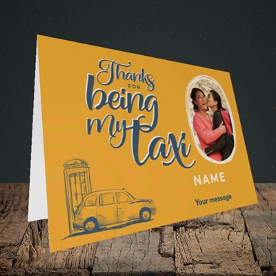 Picture of Taxi, Mother's Day Design, Landscape Greetings Card