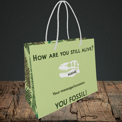 Picture of Fossil, (Without Photo) Birthday Design, Small Landscape Gift Bag