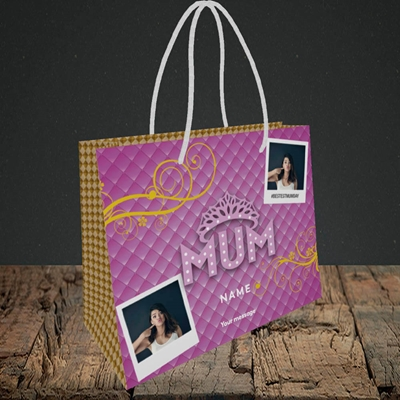 Picture of Bestest Mum, Mother's Day Design, Small Landscape Gift Bag
