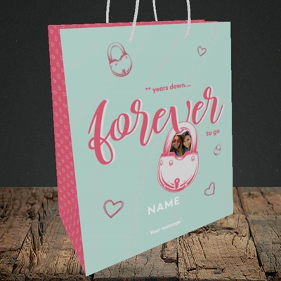 Picture of Forever To Go, Anniversary Design, Medium Portrait Gift Bag