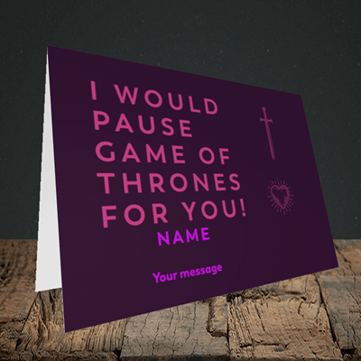 Picture of Game Of Thrones, (Without Photo) Valentine's Design, Landscape Greetings Card