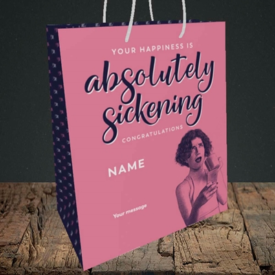 Picture of Absolutely Sickening(Without Photo), Wedding Design, Medium Portrait Gift Bag