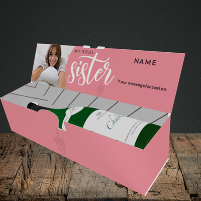 Picture of Soul Sister, Birthday Design, Lay-down Bottle Box