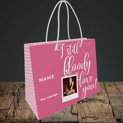 Picture of I Still Bloody Love You, Anniversary Design, Small Landscape Gift Bag