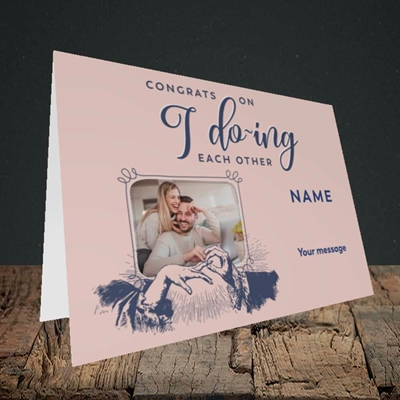 Picture of I Do-ing, Wedding Design, Landscape Greetings Card