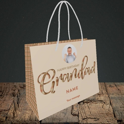 Picture of Grandad, Birthday Design, Small Landscape Gift Bag