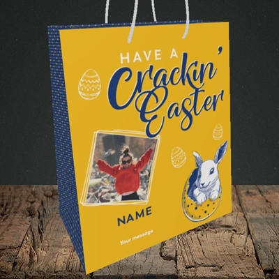 Picture of Crackin' Easter, Easter Design, Medium Portrait Gift Bag