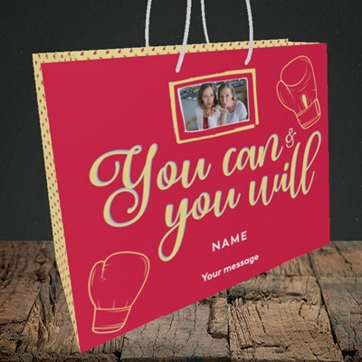 Picture of You Can & You Will, Thinking of You Design, Medium Landscape Gift Bag