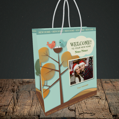 Picture of Trees, New Home Design, Small Portrait Gift Bag