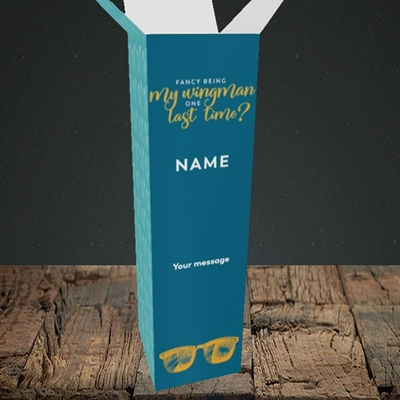 Picture of Wingman(Without Photo), Wedding Design, Upright Bottle Box