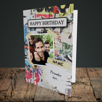 Picture of Graffiti, Birthday Design, Portrait Greetings Card