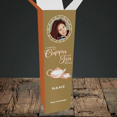Picture of Cuppa Tea, Get Well Soon Design, Upright Bottle Box