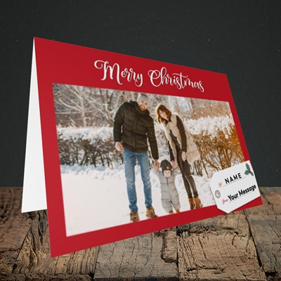 Picture of 1. A Merry Christmas, Large Photo, Christmas Design, Landscape Greetings Card
