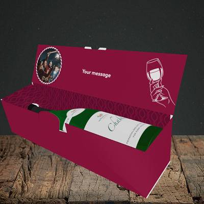 Picture of About To Go Down, New Year Design, Lay-down Bottle Box