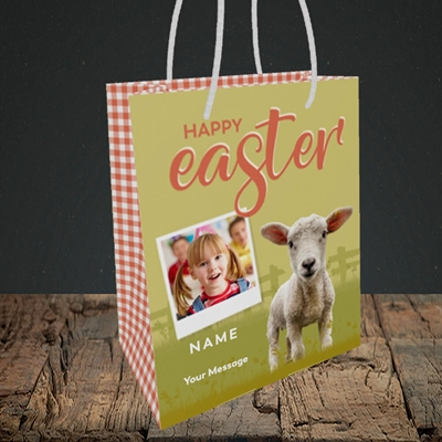 Picture of Lamb To See You, Easter Design, Small Portrait Gift Bag