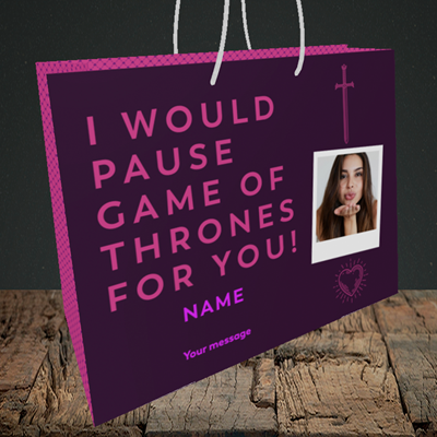 Picture of Game Of Thrones, Valentine's Design, Medium Landscape Gift Bag