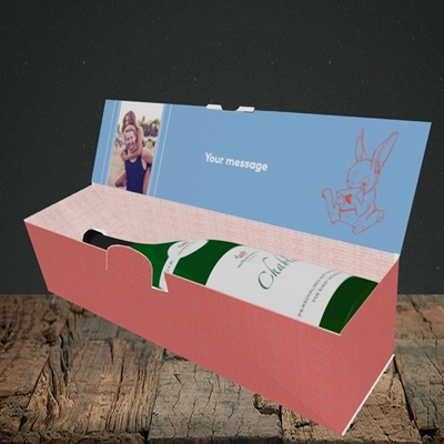 Picture of Hot Cross Bunny, Easter Design, Lay-down Bottle Box