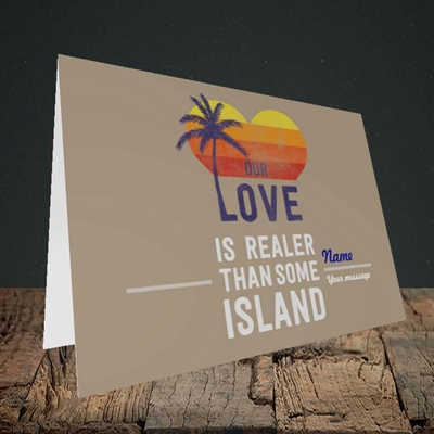 Picture of Our Love Is Realer(Without Photo), Valentine's Design, Landscape Greetings Card