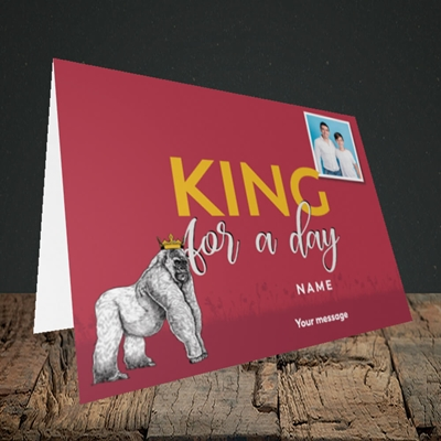Picture of King For A Day, Father's Day Design, Landscape Greetings Card