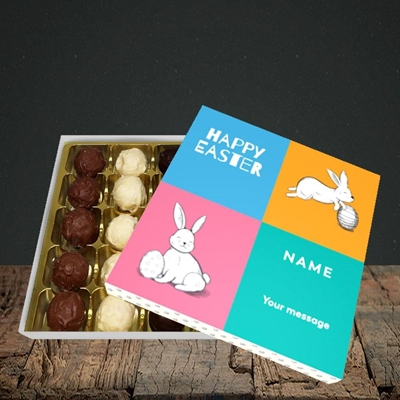 Picture of 4 Colour Bunnies(Without Photo), Easter Design, Choc 25