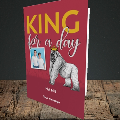 Picture of King For A Day, Father's Day Design, Portrait Greetings Card