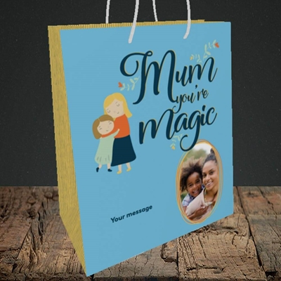 Picture of Mum You're Magic, Mother's Day Design, Medium Portrait Gift Bag