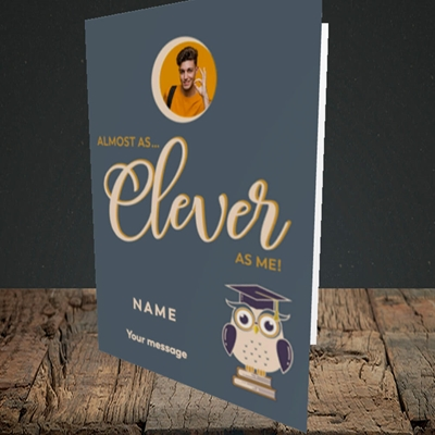 Picture of Clever as Me, Graduation Design, Portrait Greetings Card