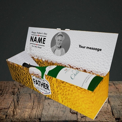 Picture of Premium Father, Father's Day Design, Lay-down Bottle Box