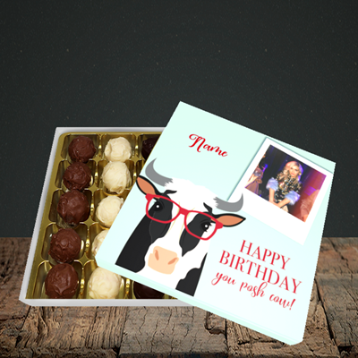 Picture of Cow, Birthday Design, Choc 25