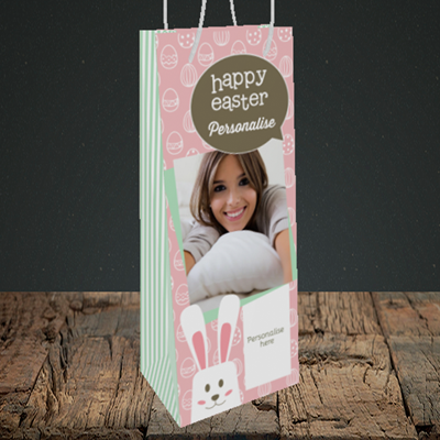 Picture of Rabbits, Easter Design, Bottle Bag
