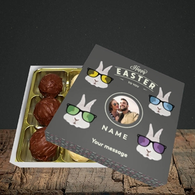 Picture of Hipster Bunnies, Easter Design, Choc 9