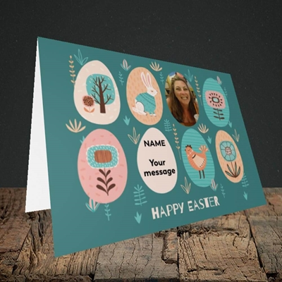 Picture of Easter Egg Farm, Easter Design, Landscape Greetings Card