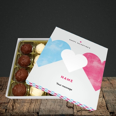 Picture of Joined Hearts (textured)(Without Photo), Valentine Design, Choc 16